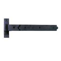 Door Gate Strap Hinge Black Wrought Iron 19