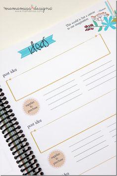 2014 #Blogging Planner, Calendar, & Menu Planner | @mamamissblog #organize #2014planner
