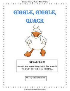 Giggle, Giggle, Quack Sequencing Activity.