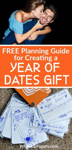 How to Make Your Own Year of Dates Gift for Him! Perfect Valetine's Day gift or romantic gift gesture for your boyfriend, husband, or spouse!