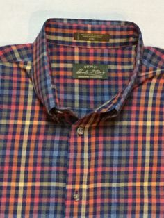 Men's Orvis Lightweight Flannel Buttondown Plaid Shirt XXL New Without Tags | eBay