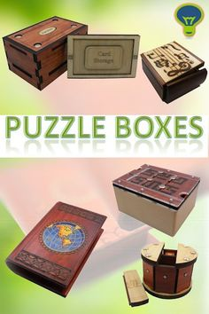 Beautiful and unique puzzle boxes. Artist made, with superior quality.  Find the secret to open them up, place small valuable, and lock it back up. Makes a great gift.