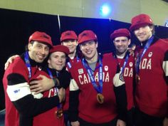 Team Canada after their win [Feb 23, 2014]