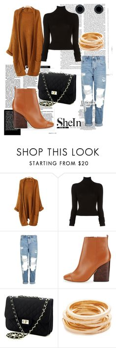 """""""Bez naslova #36"""" by sejlabrkic ❤ liked on Polyvore featuring Olsen, BLK DNM, Topshop, Tory Burch, Kenneth Jay Lane and Monet"""