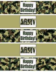 Today I'm sharing these free Army Birthday Party Printables! I made these very simple so they can be used for a boy or girl's army party!