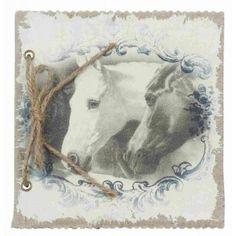 Notizbuch Fotoalbum Pferde 17 x 17 cm Clayre & Eef 6PA0405