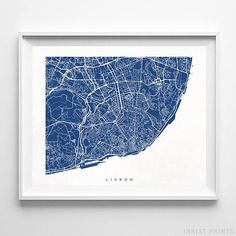 ❤ TITLE: Lisbon, Portugal Street Map ❤ ITEM NUMBER: 596 ❤ SHOWN COLOR: SAPPHIRE ★ LIMITED TIME OFFER ➔ Follow 5 Steps Below (⬇) for 3RD FREE PRINT! Get 3rd Free with Every 2 Prints Purchase! *Example: BUY 8, GET 4 FREE = Total of 12 [1] Freebie Must be equal or lesser value of LOWEST