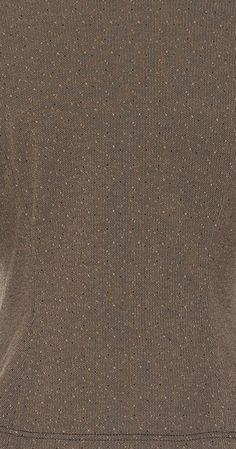 Die Material Message: Jersey mit bewegter Melange-Oberfläche, inspiriert von der Natur.