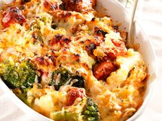 Huisgenoot Banting Vegetable and Chorizo 3 Cheese Bake High Protein Recipes, Low Carb Recipes, Cooking Recipes, Healthy Recipes, Healthy Meals, Banting Recipes, Vegetable Recipes, Chicken Recipes, Pork Recipes