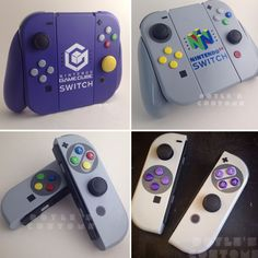 Custom Switch Controllers - Nintendo Switch Console - Ideas of Nintendo Switch Console - Custom Switch Controllers Console Style, Nintendo Switch Case, Nintendo Switch Accessories, Custom Consoles, Gamecube Controller, Videogames, Video Game Rooms, Playstation, Xbox