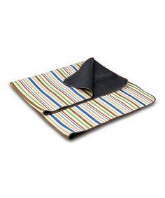 Loving this Lattice Stripe & Brown Blanket Tote on #zulily! #zulilyfinds