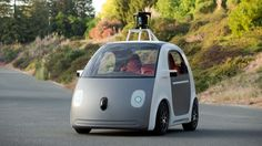 Self-driving cars are also robots! They are to drive by themselves and in some cases, don't even have a steering wheel! One day teens wont be learning how to drive, instead this car will be driving for them! Self Driving, Driving Test, Google Car, Volvo, Mini Car, Auto Motor Sport, Cool Tech, Concept Cars, Jaguar