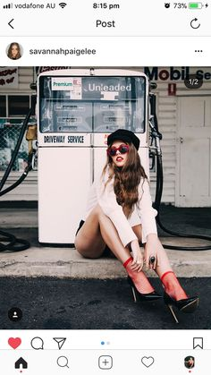 Gas service station fashion Editorial photoshoot