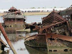 Staten Island Boat Graveyard, New York. #Revolution