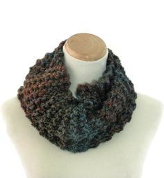 Neck Warmer Knit Scarf Bulky Scarf Hand Knit by ArlenesBoutique