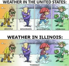 Illinois Chicago weather for sure! Southern Illinois isn't far behind.