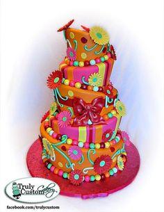 Daisy Topsy Turvy Cake