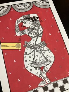Shinjini`s Art – Indian Folk Art (Madhubani, Kalamkari, Gond) Saree Painting, Kalamkari Painting, Madhubani Painting, Fabric Painting, Painting Art, Phad Painting, Madhubani Art, Indian Folk Art, Indian Art Paintings