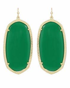 Danielle Earrings in Green - Kendra Scott Jewelry