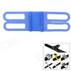 Universal Bicycle Silicone Holding Elastic Strap for Flashlight / Cell Phone - Blue Price: $2.60