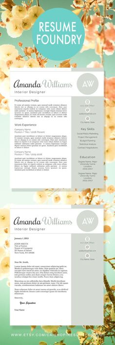 Professional Resume Template - the Amelia Microsoft word - professional resume fonts