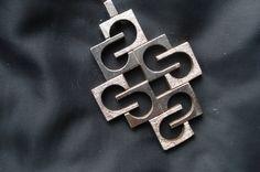 Knud V. Andersen Sterling Silver pendant measures 5,8cm