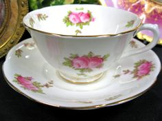 Collingwood Delicate Design Tea Cup and Saucer Duo