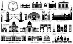 British Building silhouettes