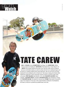 Issue 1, GromWatch: Tate Carew