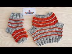 Practical Newborn Baby Socks booties easy knitting models, knitting for beginners knitting ideas knitting patterns knitting projects knitting sweater Easy Knitting, Knitting For Beginners, Knitting Patterns, Knitted Booties, Baby Booties, Pull Bebe, Baby Pullover, Baby Blog, Baby Socks
