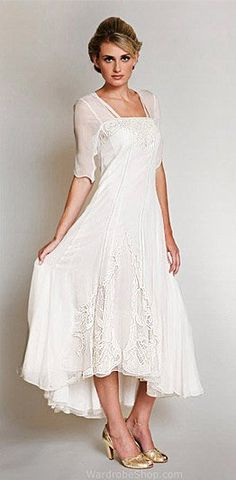 Beautiful nataya informal second wedding dress with embroidery 40015