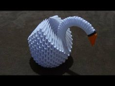 How To Make a 3D Origami Swan (Type 1) - YouTube