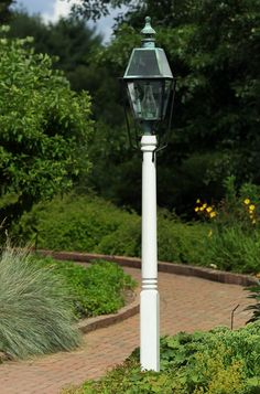 Shop here and choose from our selection of Colonial Style Light Poles at Hammerworks. Pair your post light with a Cast Aluminum or Cedar Wood Lantern Pole. Wooden Lanterns, Wooden Lamp, Outdoor Light Fixtures, Outdoor Lighting, Lighting Ideas, Driveway Lighting, Exterior Lighting, Copper Lantern, Lantern Post