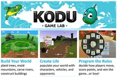 Microsofts Kodu is a free, Windows-based program for creating #games without writing code. The drag+drop interface uses if/then scenarios to design a rich gaming experience. Kodu users create settings, specify roles for characters, and place characters in their games. Finally, students program what players can and cannot do in their games. Microsoft is hosting a new Imagine Cup contest for kids ages 9-18. Entrants design games that explore the relationship between water and people.