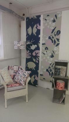 NUA textiles Degree show Textiles, Textile Prints, Textile Design, Exhibition Display, Exhibition Space, Exhibition Ideas, Wallpaper Display, Fabric Display, Print Patterns