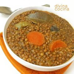 Lentejas al curry < Divina Cocina
