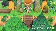 Nintendo Switch Animal Crossing, Animal Crossing Game, Path Design, Bridge Design, Bridge Pattern, Rickety Bridge, Wooden Path, Motifs Animal, Lily Of The Valley