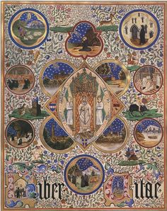 An illustration inside the book 'Liber Vitae' ~ Pugin