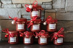 Christmas plum - gingerbread - jam from hay flower Diy Gifts In A Jar, Diy Gifts For Mothers, Easy Diy Gifts, Christmas Sweets, Christmas Time, Christmas Cookies, Winter Marmelade, Diy Gifts Last Minute, Plum Recipes