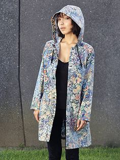 Womens sustainable fashion raincoat - Limited Edition Raincoats made from vintage sheets & duvets 💧We deliver world wide 🌏 Handmade in NZ 👋 Eco-friendly ♻️ Vintage Sheets, Kiwi, Sustainable Fashion, Eco Friendly, Raincoat, Kimono Top, Handmade, Collection, Tops