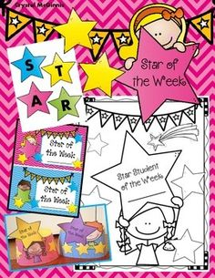 "Each week I will choose a new student to be my ""Star Student of the Week."" I created this set of materials to help make this a simple task. This star student set comes with a ""Star Student of the Week"" book for students to take home and return to school. Stars Classroom, 2nd Grade Classroom, Classroom Themes, Preschool Social Skills, Kindergarten Activities, Star Students, New Students, Student Of The Week, Classroom Management Techniques"