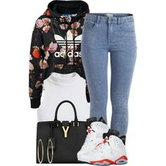 A fashion look from April 2014 featuring adidas Originals sweatshirts, Bardot tops und Pieces. Browse and shop related looks. Swag Outfits For Girls, Cute Swag Outfits, Dope Outfits, Casual Outfits, Girl Outfits, Fashion Outfits, School Outfits, Dress Outfits, Urban Fashion