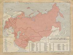 1. USSR Union Republics 1958 by Kuusinen.deviantart.com on @DeviantArt