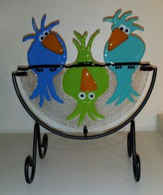 Whimsy Birds in Blue - March 2014