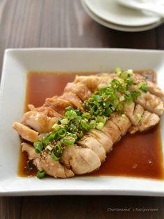 中華風レンジ蒸し鶏