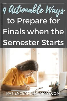 Four easy ways to prepare for finals when the semester starts! Get ahead and set yourself up for a successful semester.