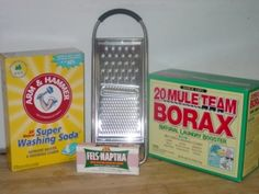 Homemade Laundry Detergent    2 cups washing soda   2 cups Borax   1 cup grated or chopped Fels-Naptha soap    Mix all ingrediants.  Use 1/4 cup per load of laundry.