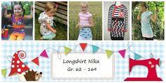 Nähanleitungen Kind - E Book Longshirt Nika 62 - 164 - ein Designerstück von Lolletroll bei DaWanda