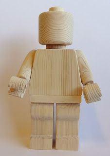 A´maries blogg: LEGO® gubbe steg-för-steg | Wooden lego figure tutorial