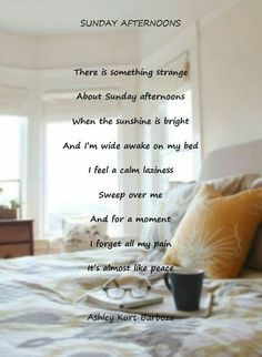 Sunday Afternoons Garden Of Words, Wide Awake, Thats Not My, Sunday, Calm, Peace, In This Moment, Personalized Items, Feelings